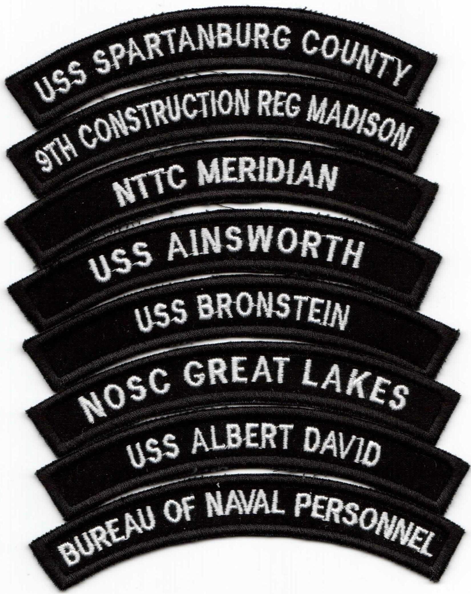 20 NAVSTA MOBILE Alabama US Navy Enlisted Uniform Shoulder Rocker Patches!!