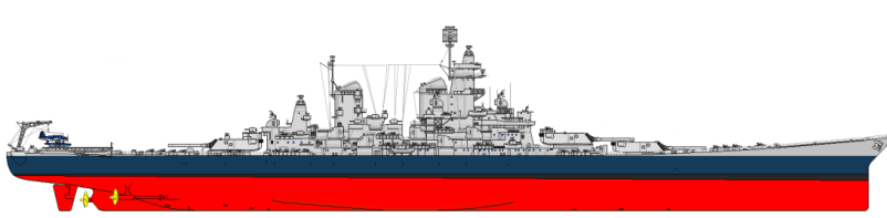Battleship Model Kit - USS Missouri, USS Iowa 1/200