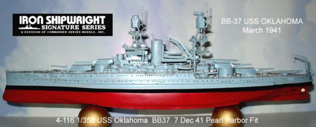 Battleship Model Kit - USS Oklahoma BB-37 1/350 Scale