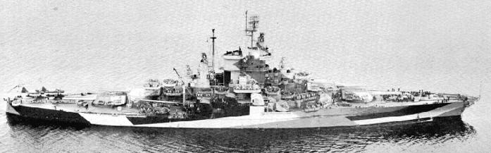 Battleship Model Kit - USS West Virginia 1/350