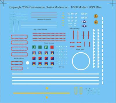 Modern Cold War Cruisers & Destroyer Decals 1/350
