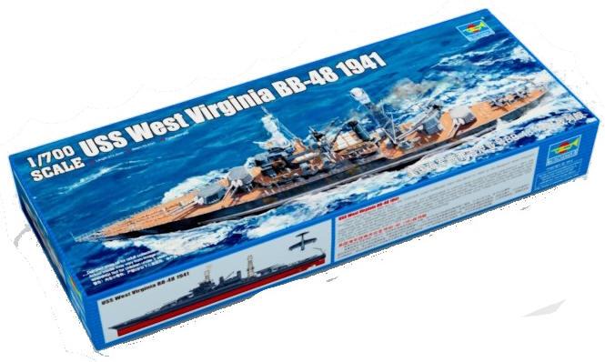 Battleship Model Kit - BB-48 USS West Virginia 1/700 Scale