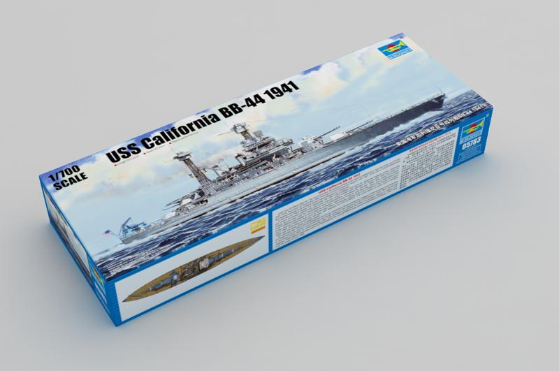 USS California BB-41 1944 1/700 Scale Model Kit