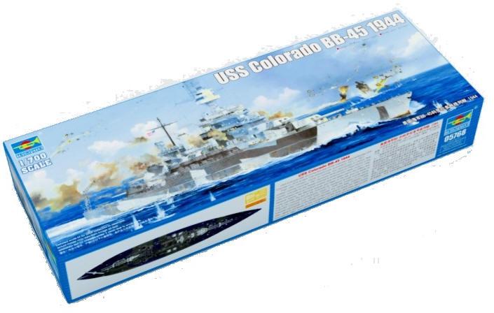 Battleship Model Kit - USS Colorado 1944 1/700 Scale